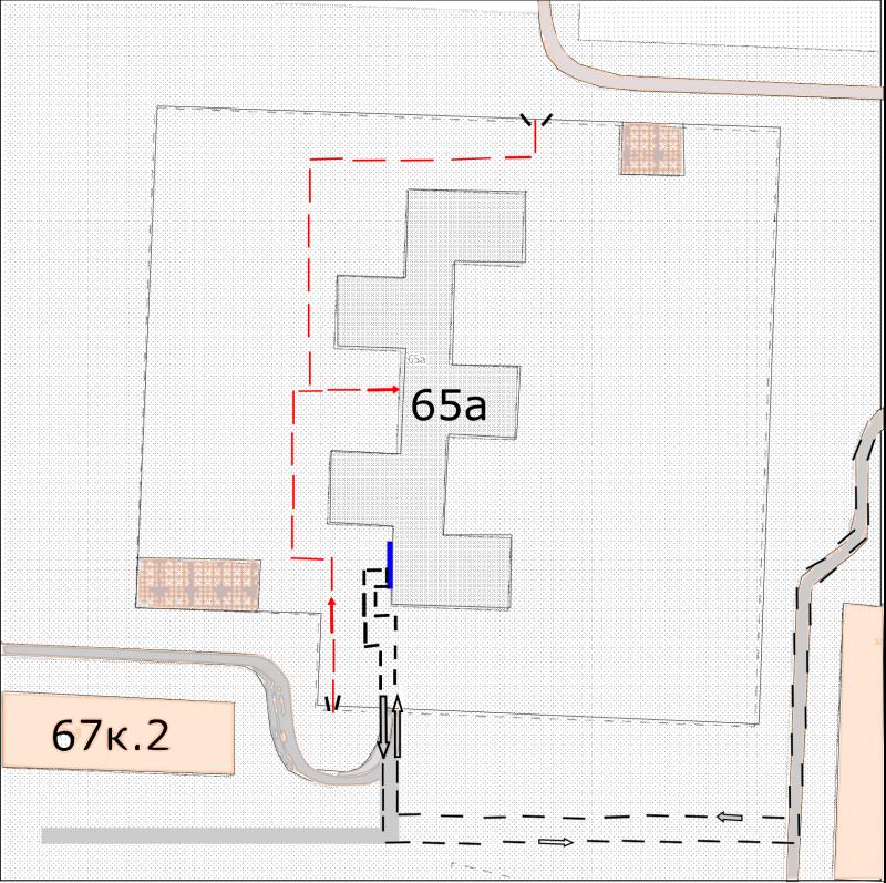 План – схема путей движения